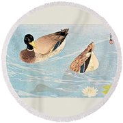 Top Quality Art - Duck Round Beach Towel