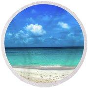 Topical Beach View Anguilla Round Beach Towel