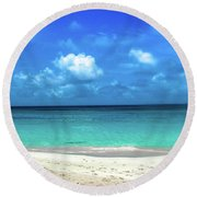 Topical Beach View Anguilla Round Beach Towel