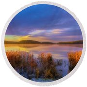 Touch Of The Sun Round Beach Towel