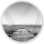 Towards The Nahuel Huapi Lake Round Beach Towel
