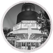 Round Beach Towel featuring the photograph Tower In Silence- by JD Mims