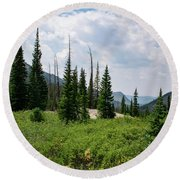 Round Beach Towel featuring the photograph Trail To Gilpin Lake by Nicole Lloyd