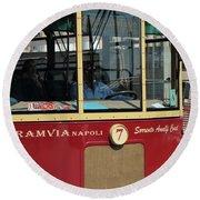 Tram Naples Round Beach Towel