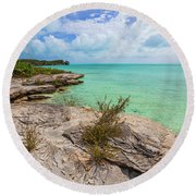 Tranquil Sea Round Beach Towel