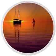Tranquility Bay Round Beach Towel