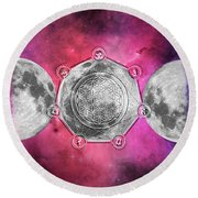 Round Beach Towel featuring the digital art Transformation by Bee-Bee Deigner
