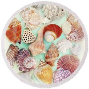 Treasures From The Sea  Round Beach Towel