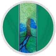 Tree Fountain Round Beach Towel