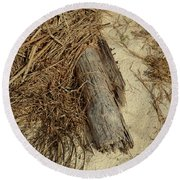 Tree In The Reeds Round Beach Towel