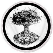 Tree Of Knowledge Round Beach Towel