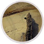 Tree On Edge Round Beach Towel