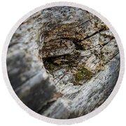 Tree Wood Round Beach Towel