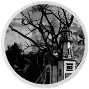 Treehouse I Round Beach Towel