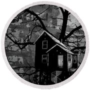Treehouse II Round Beach Towel