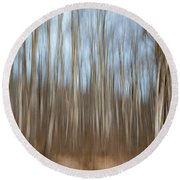 Trees In The Forest Round Beach Towel