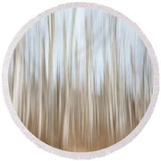 Trees On The Move Round Beach Towel