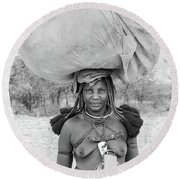 Tribes Portrait Round Beach Towel