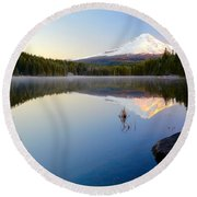 Trillium At Dawn Round Beach Towel