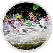 Triple Crown Kayak Race Round Beach Towel