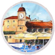 Trogir, Croatia Round Beach Towel