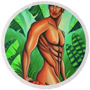 Tropic Beauty Round Beach Towel