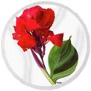 Tropical Bouquet-flower Three Round Beach Towel