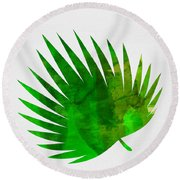 Tropical Chamaerops Round Beach Towel