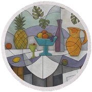 Tropical Delights Round Beach Towel