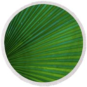 Round Beach Towel featuring the photograph Tropical Leaf by Emily Johnson
