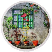 Round Beach Towel featuring the photograph Tropical Wall by Michael Arend