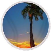 Tuesday 13th Sunset Round Beach Towel