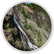 Round Beach Towel featuring the photograph Tuftefossen, Norway by Andreas Levi