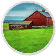 Tug Hill Farm Round Beach Towel