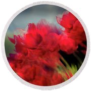 Tulips In The Wind Round Beach Towel