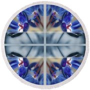 Tulips Of Stained Glass Round Beach Towel