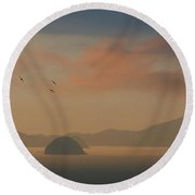 Twilight Calm Round Beach Towel