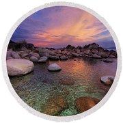 Twilight Canvas  Round Beach Towel
