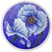 Round Beach Towel featuring the painting Twilight Surrender by Amy E Fraser