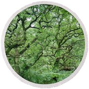 Twisted Forest Full Color Round Beach Towel