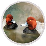 Two Handsome Redheads Round Beach Towel
