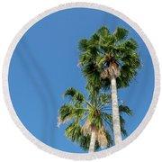 Two Palms Round Beach Towel