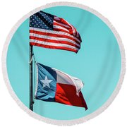Round Beach Towel featuring the photograph Two Republics by SR Green