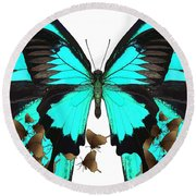 U Is For Ulysses Butterfly Round Beach Towel