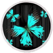 Ulysses Bkgd 3 Round Beach Towel