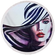 Unapologeticly Herself Round Beach Towel