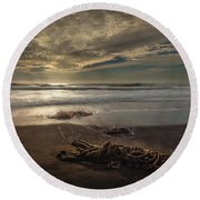 Round Beach Towel featuring the photograph Under A Cambrian Sky by Tim Bryan