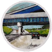 Underpass Z Round Beach Towel