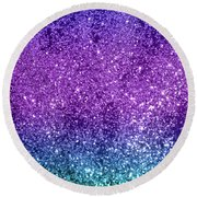 Unicorn Girls Glitter #10 #shiny #decor #art Round Beach Towel