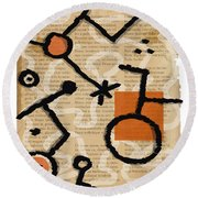 Unicycle Round Beach Towel